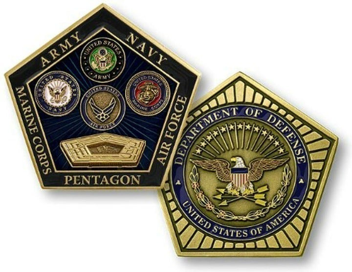 Pentagon DOD Military All Branch Coin