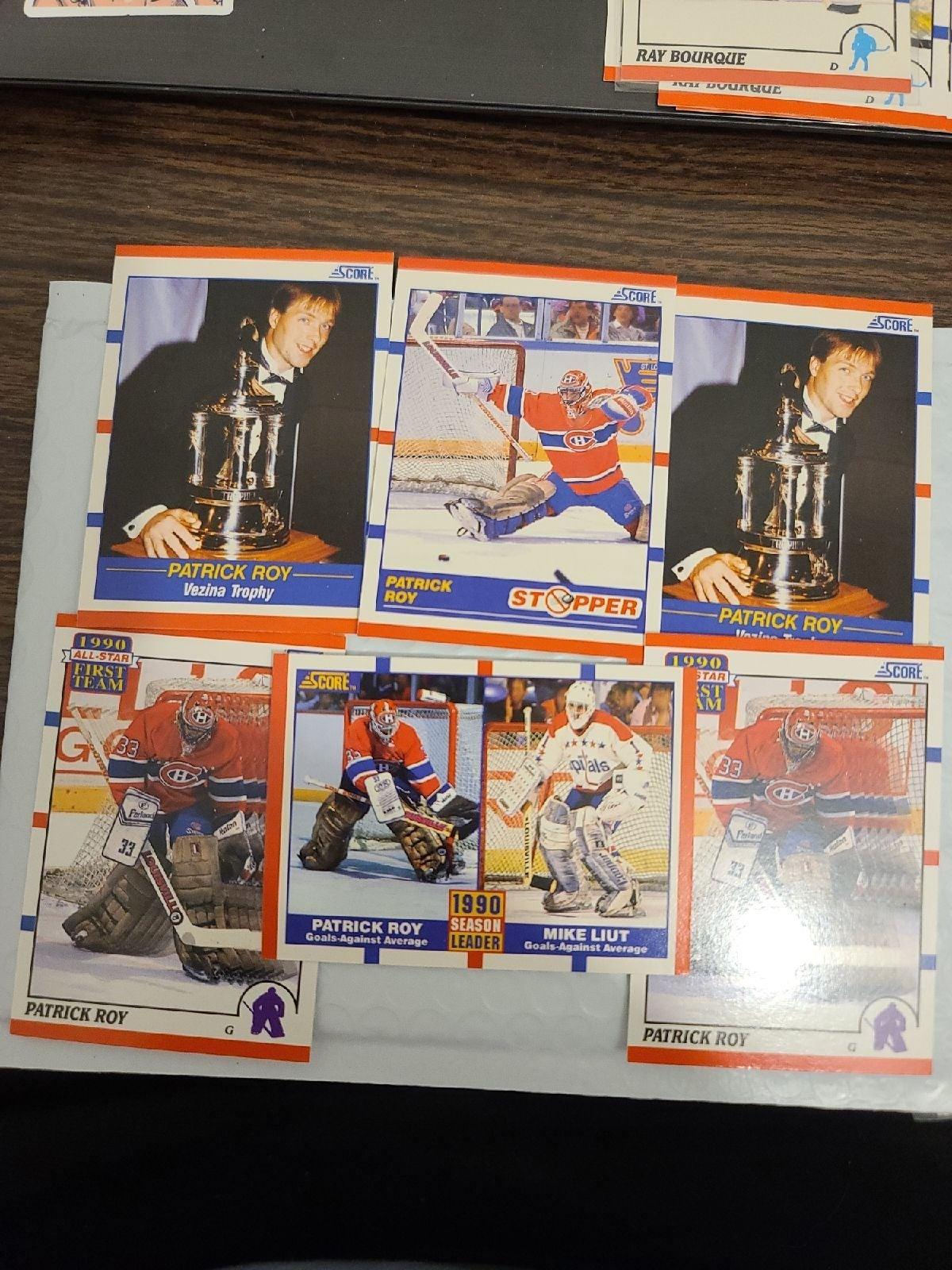 1990 score Patrick Roy lot x6 pack fresh