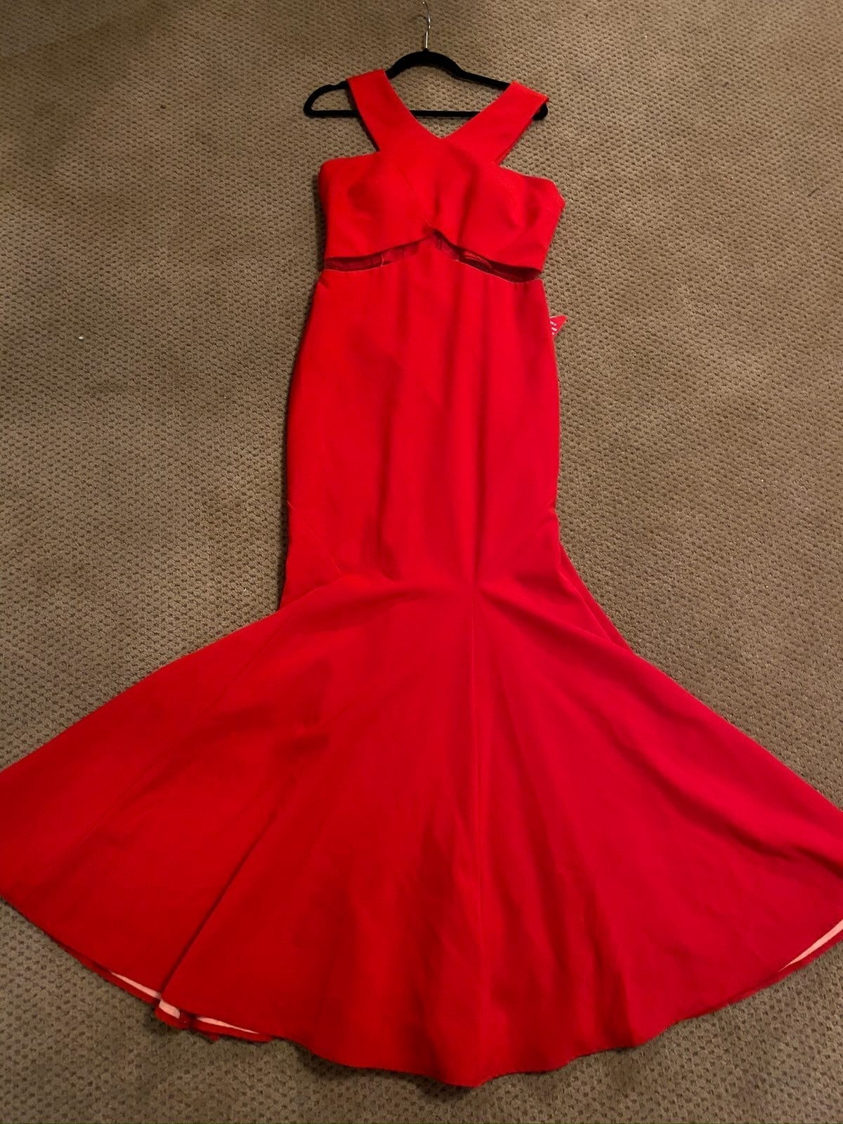 Mignon fit and flare red gown size 12