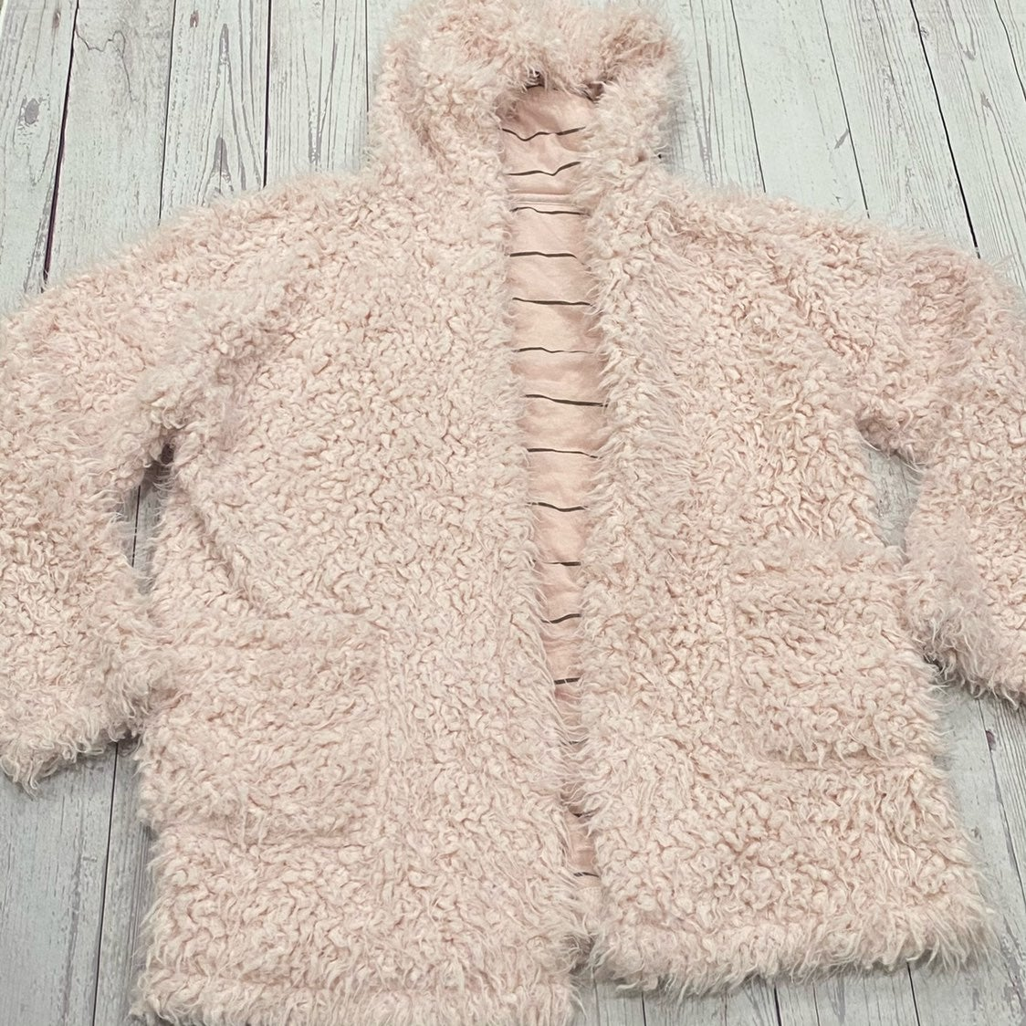Splendid Pink Hooded Teddy Jacket