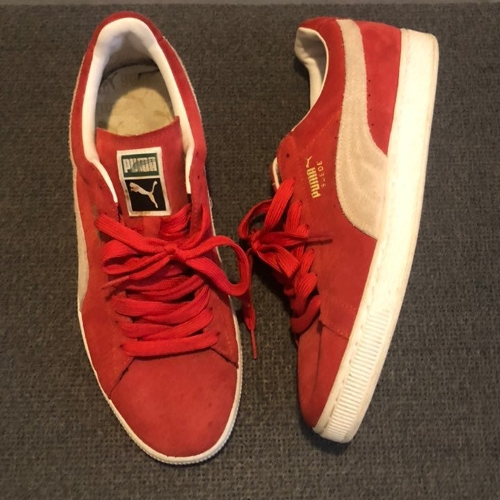 Puma Suede Sneakers - Red - Mens Sz 11