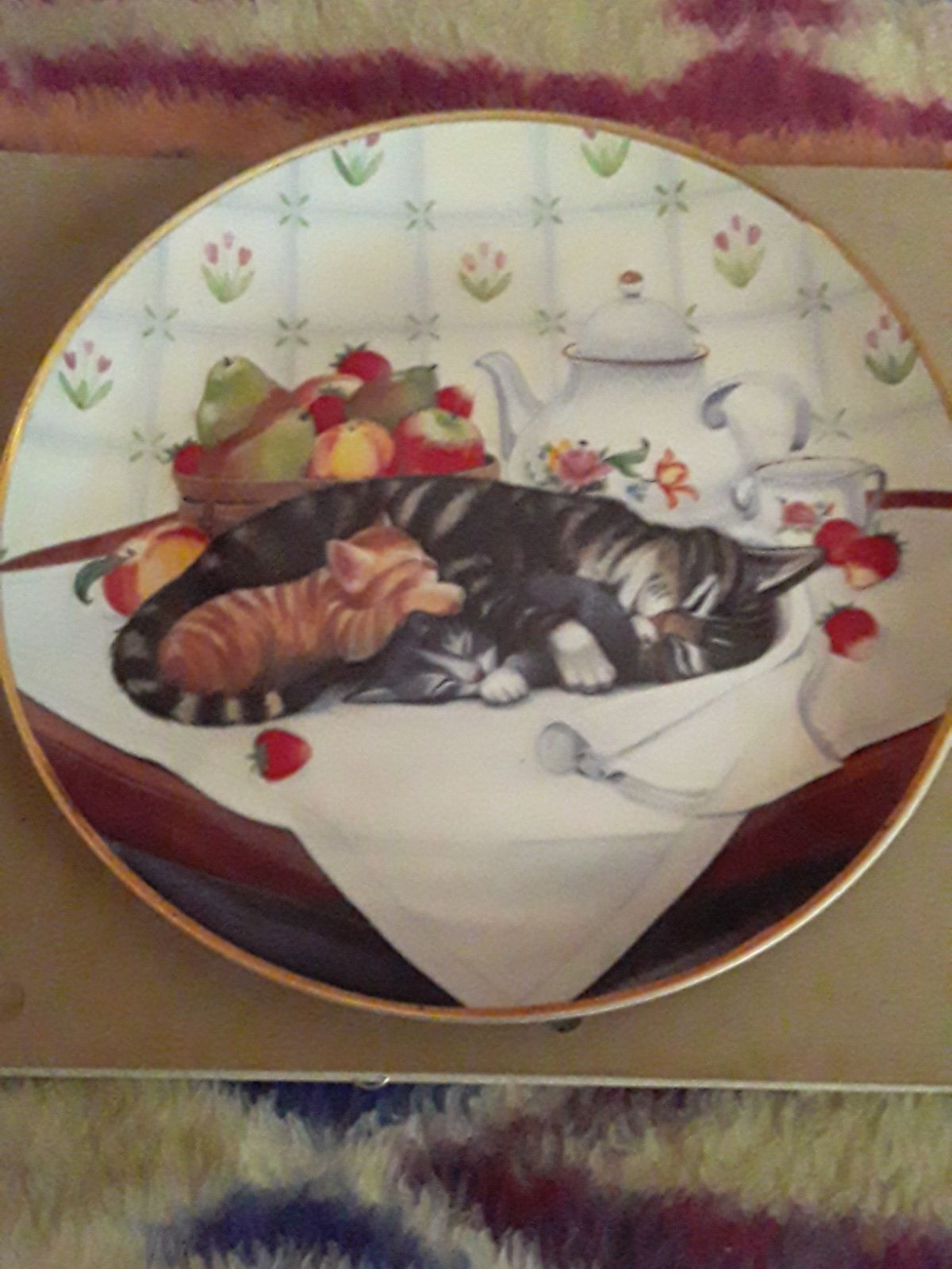 Cat Nap Collector Plate by Franklin Mint