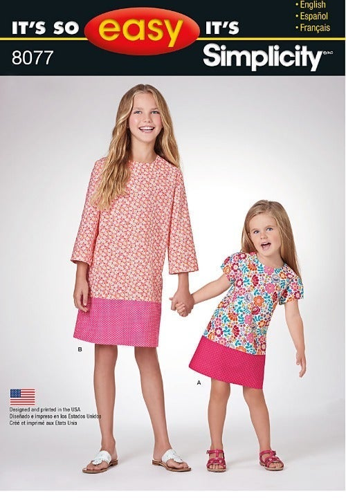 Simplicity 8077 Girl's Dress Pattern