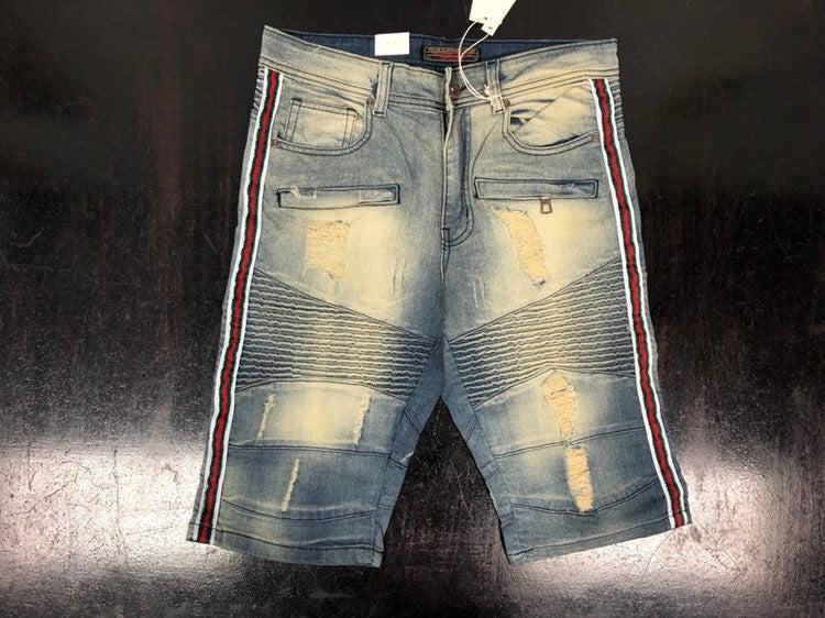 SZ Various Ripped track Jean Shorts