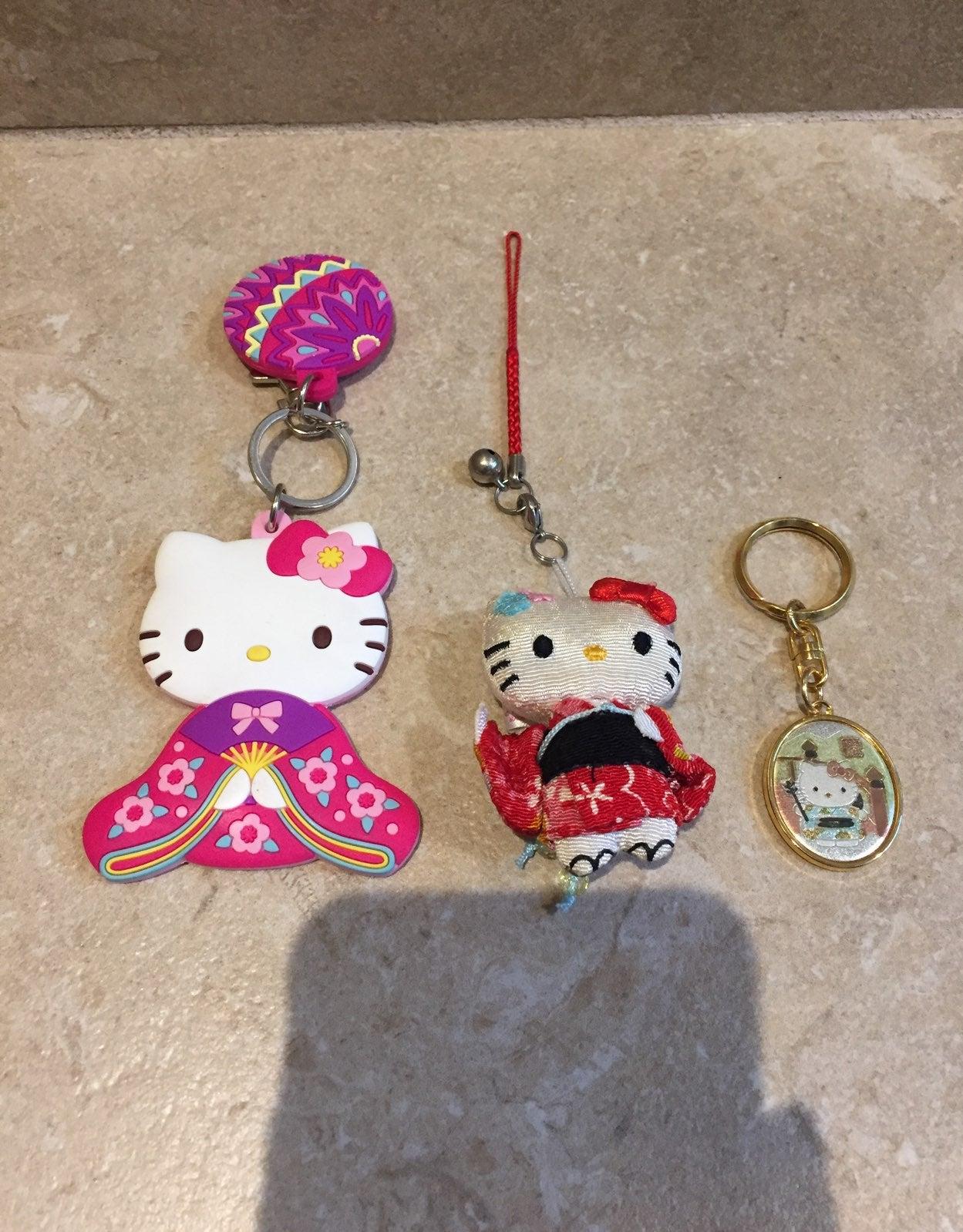 Bundle of 3 Hello Kitty Kimono Keychains