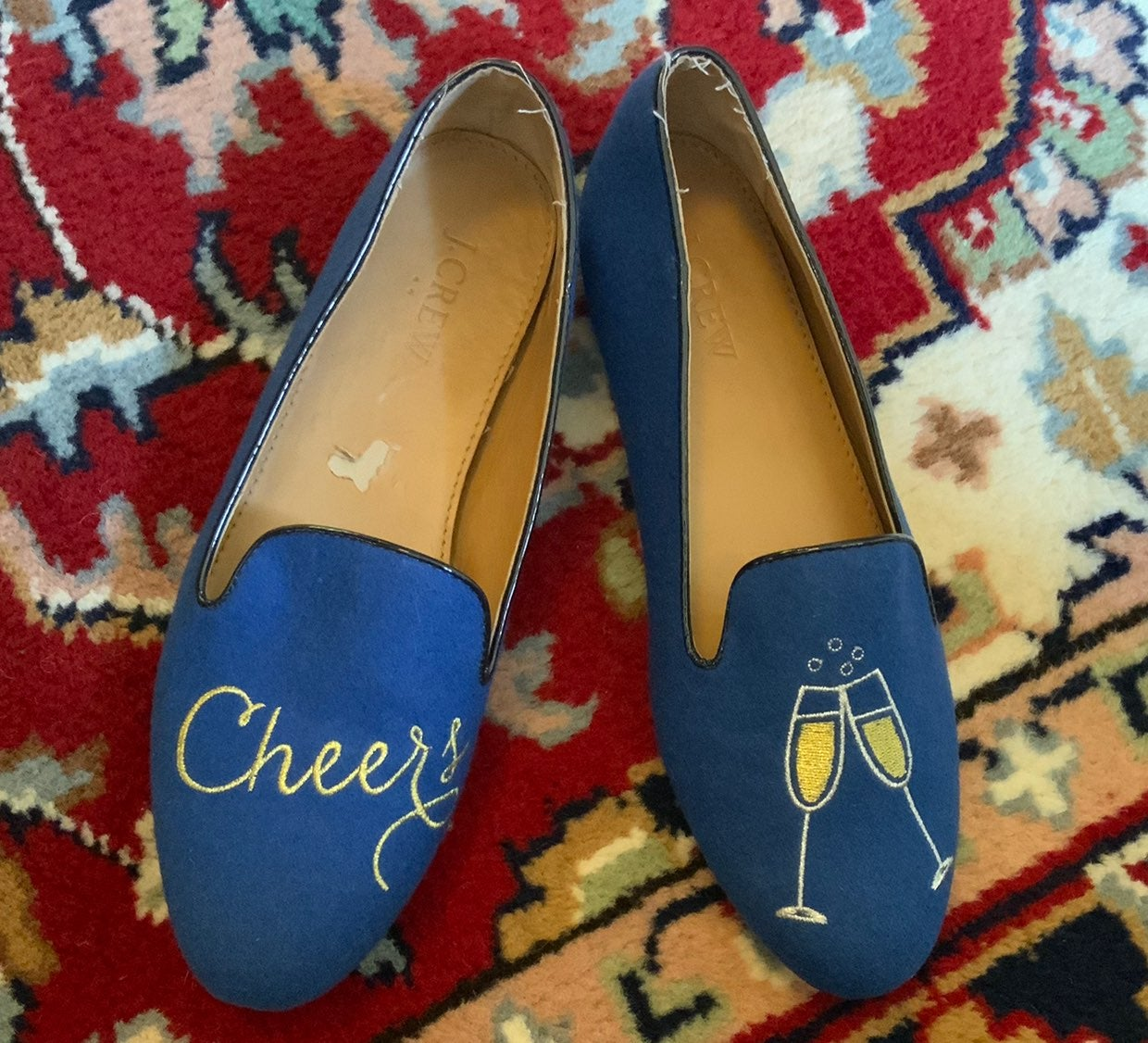 J. Crew Cheers! Blue Loafer Flats