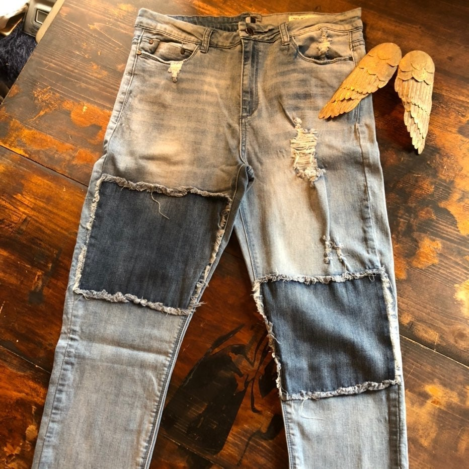 Womens jeans size 12 detroyed look