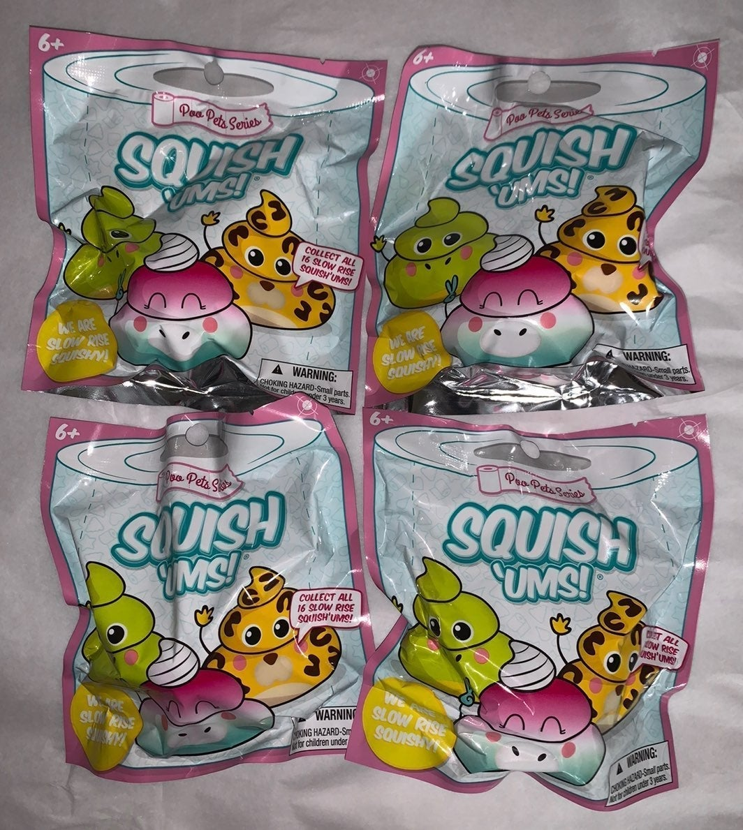 Squish ums poo pets blind bag squishy
