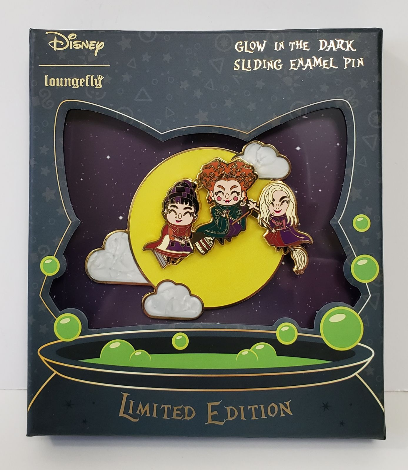 Loungefly Disney Hocus Pocus GITD LE Pin