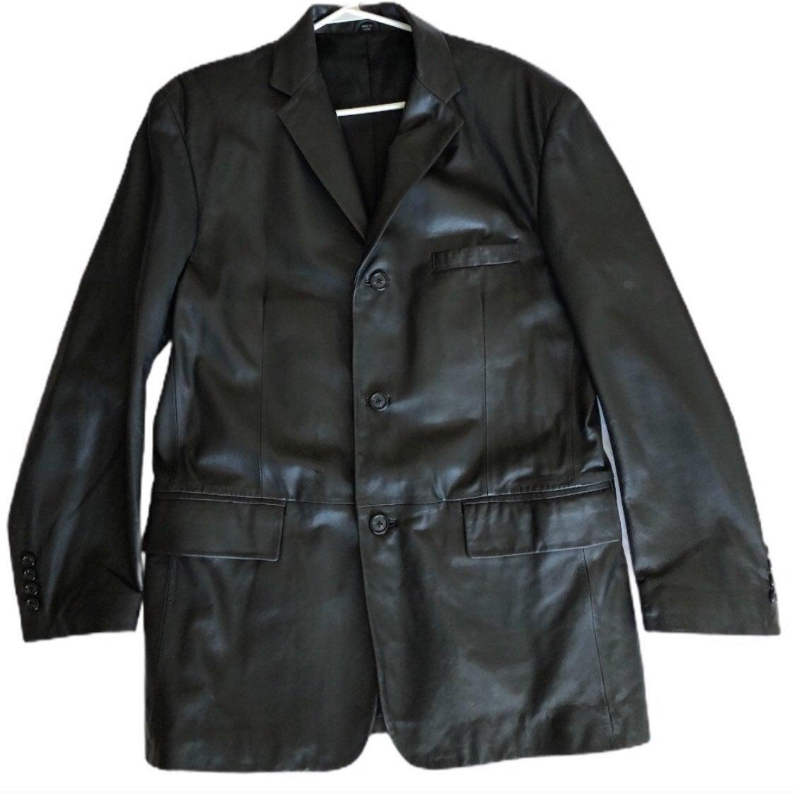 Alfani Genuine Leather Blazer / Jacket