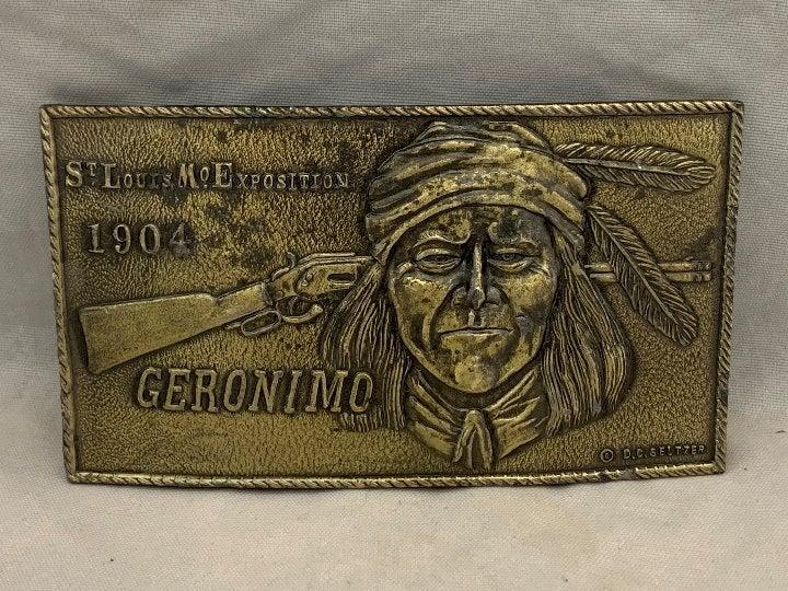 Geronimo Brass Belt Buckle - Lyntone