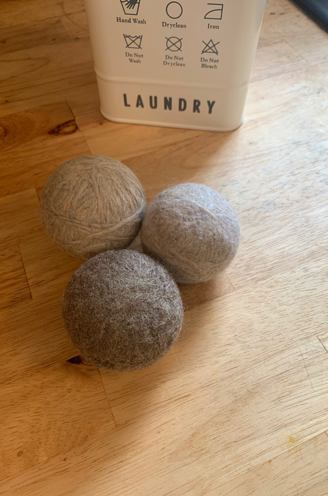 Handmade dryer balls