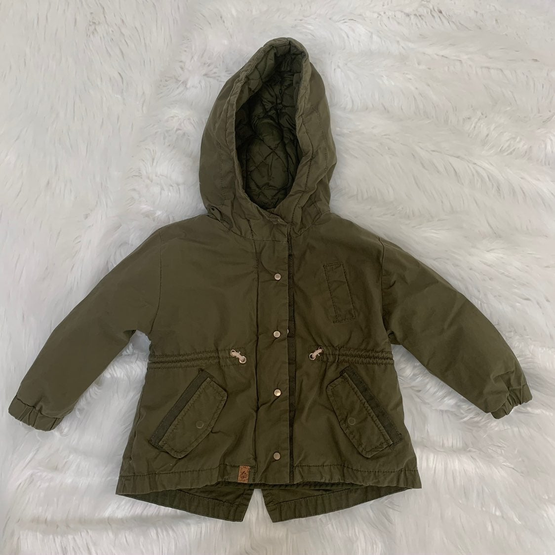 ZARA baby Girl green jacket
