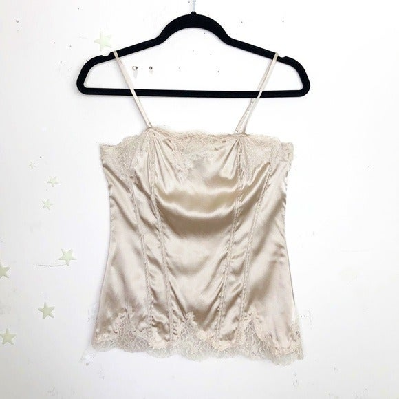 White House Black Market Silk and lace c