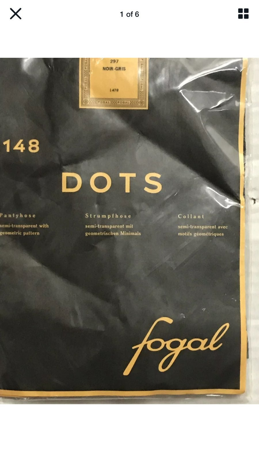FOGAL DOTS 148 NOIR GRIS SHINY EFFECT
