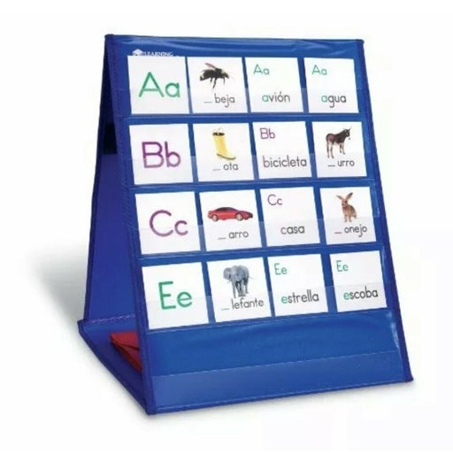 """Learning Resources Double-Sided Tabletop Pocket Chart 12""""x15.75"""" Blue"""