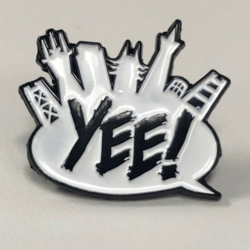 Custom enamel YEE! pin YO MTV RAPS