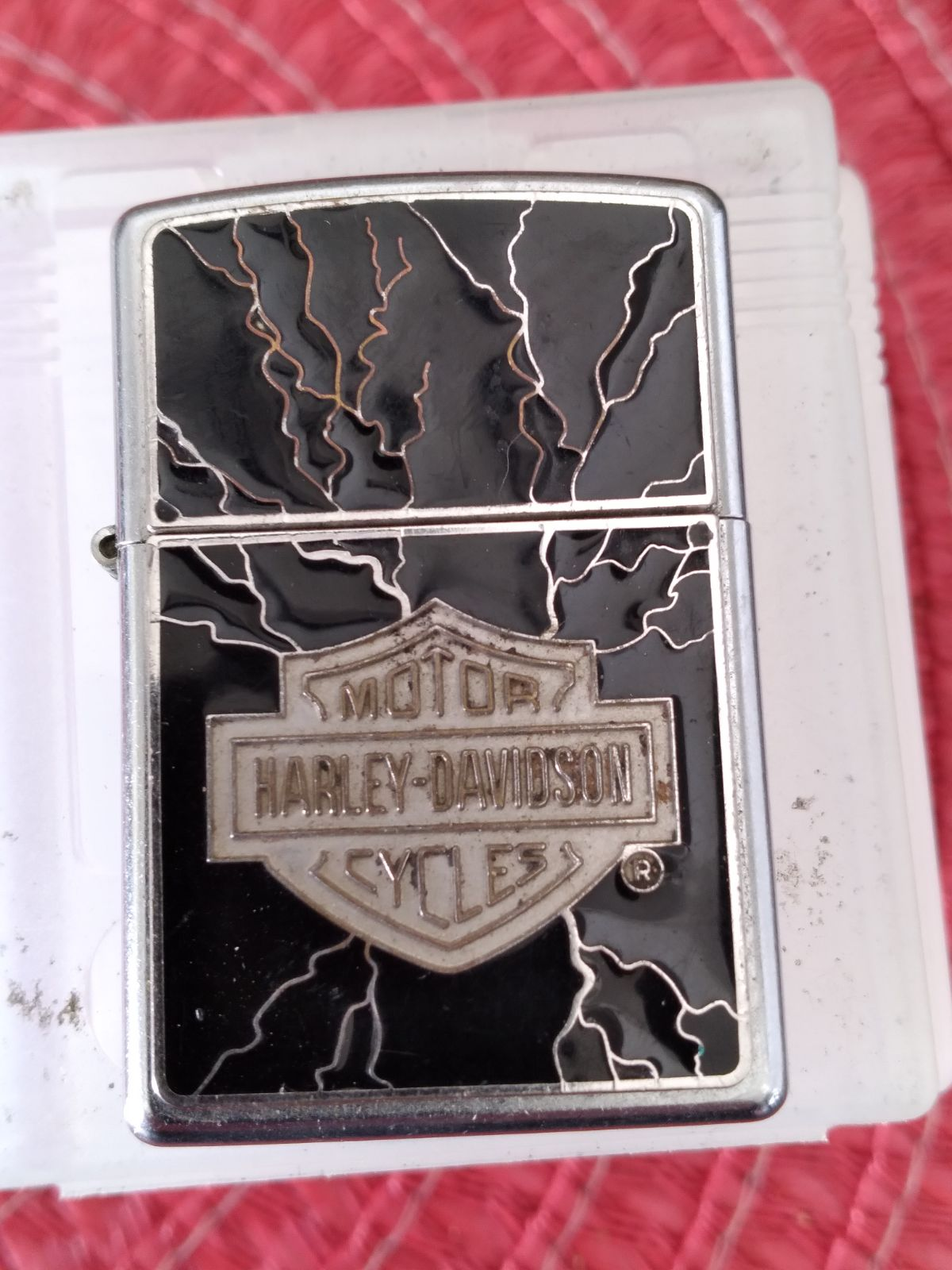 Used Harley Davidson zippo