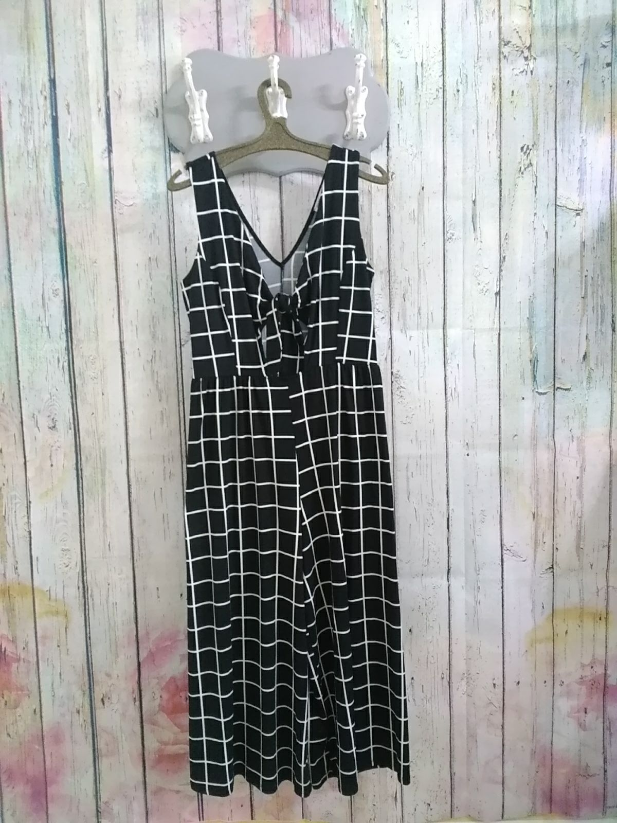 Black & White cropped Jumpsuit size med