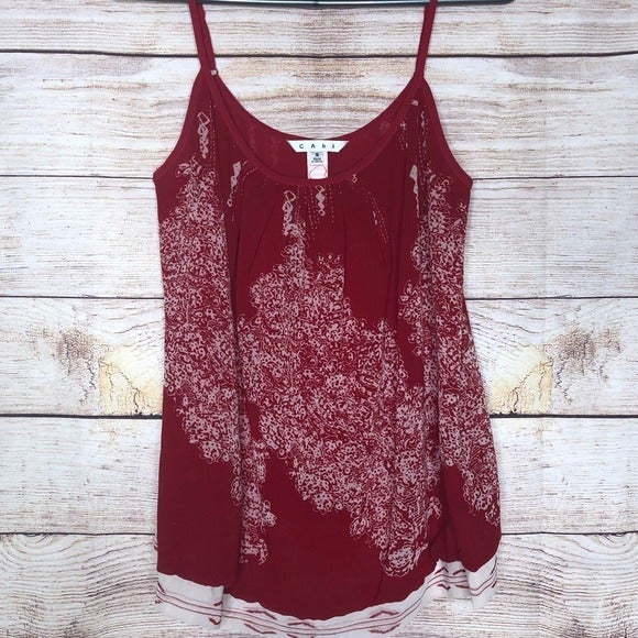 CAbi Township Red Heart Valentines Top