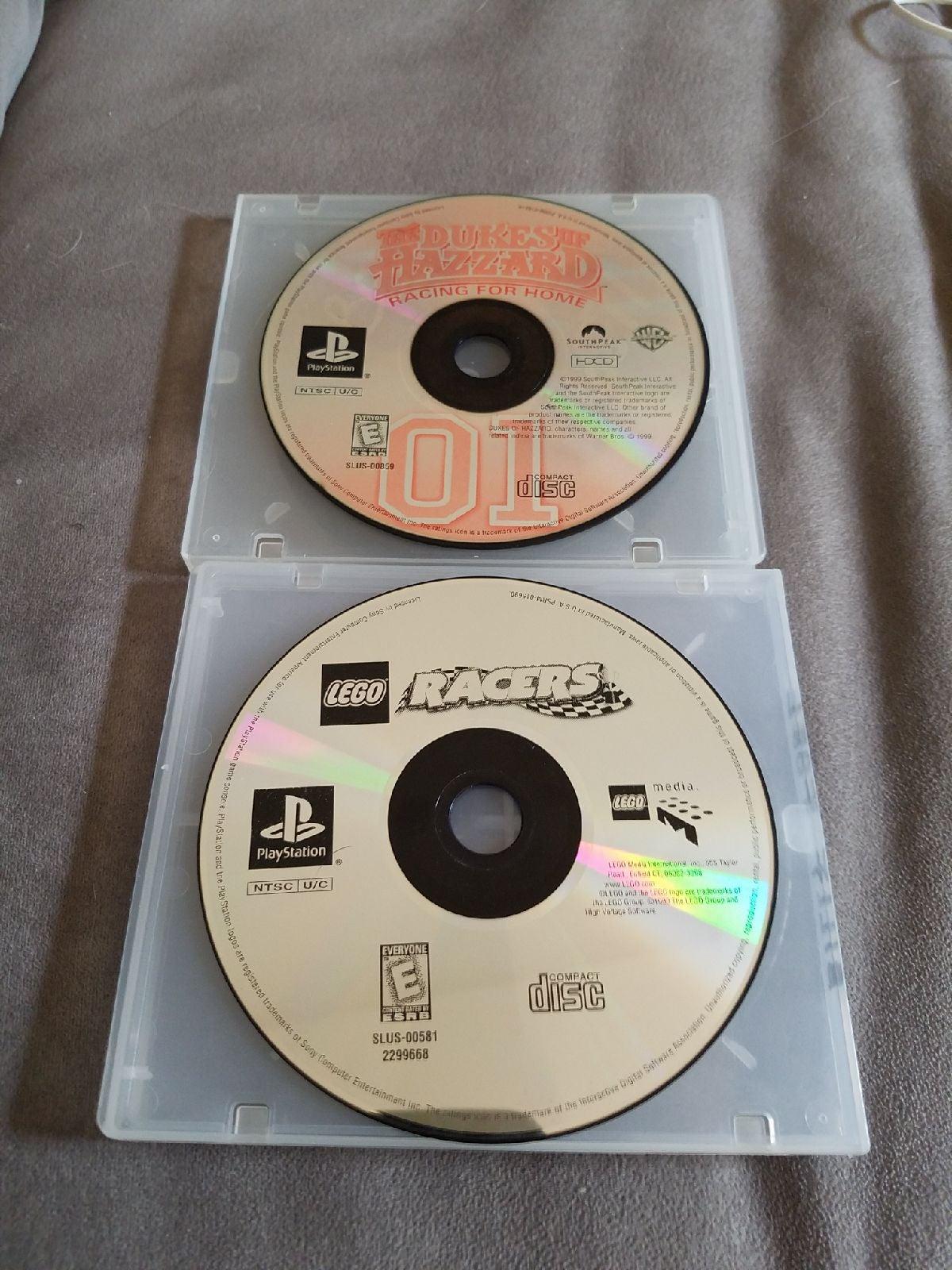 Dukes of Hazzard & Lego Racers PS1
