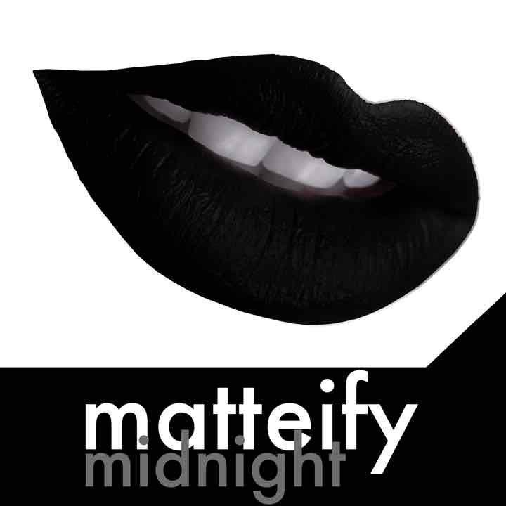 matteify midnight black matte lipstick