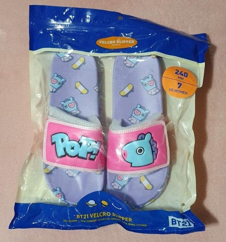 BT21 Mang Velcro Slippers