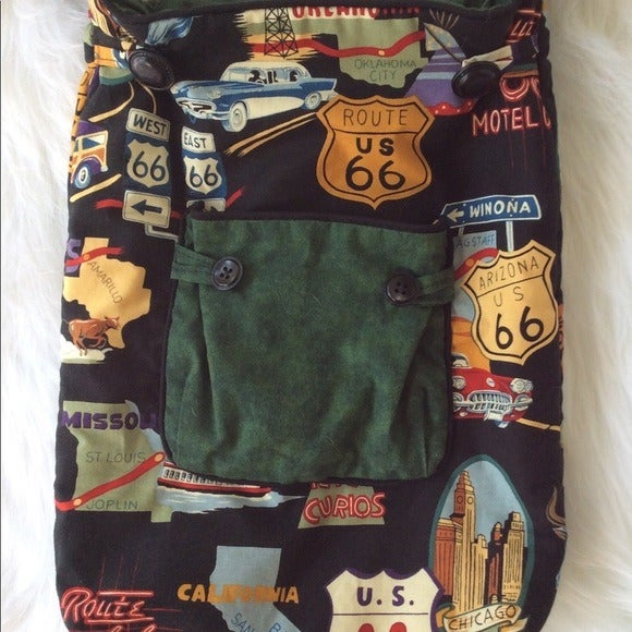 Rt. 66 Traveler Hipster Cloth Crossbody