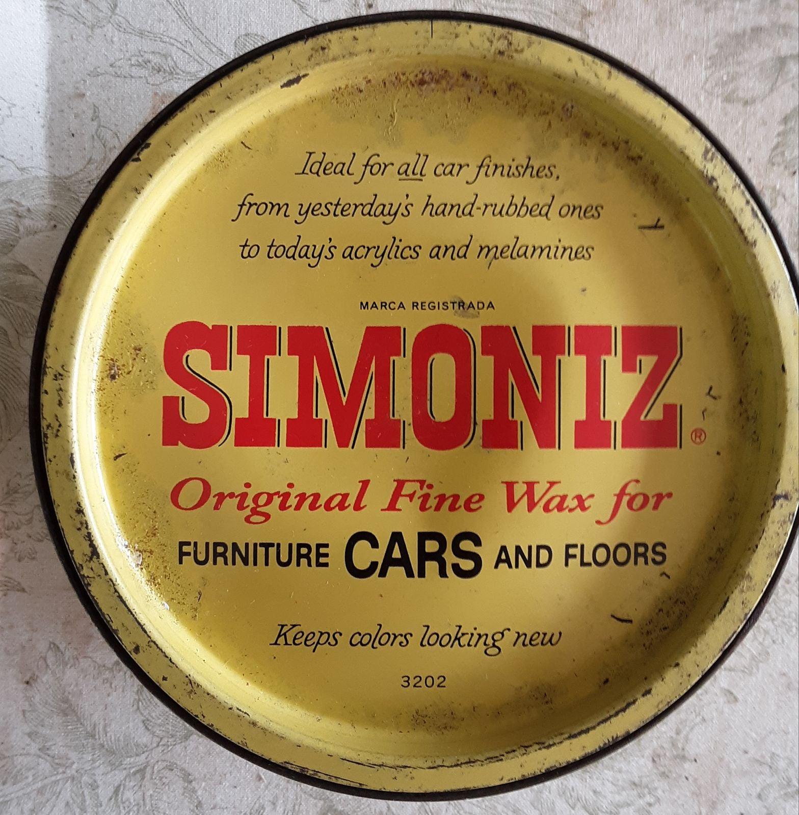 Vintage Collectible Simoniz Original Fin