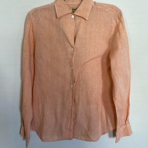 Paul Stuart linen blouse Size M/L EUC