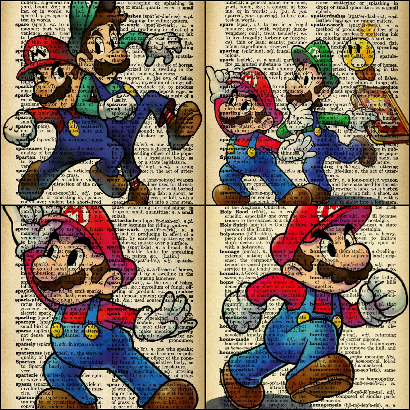 Mario dictanory page art