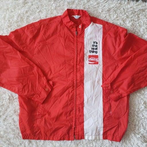 Vintage Coca Cola Windbreaker jacket