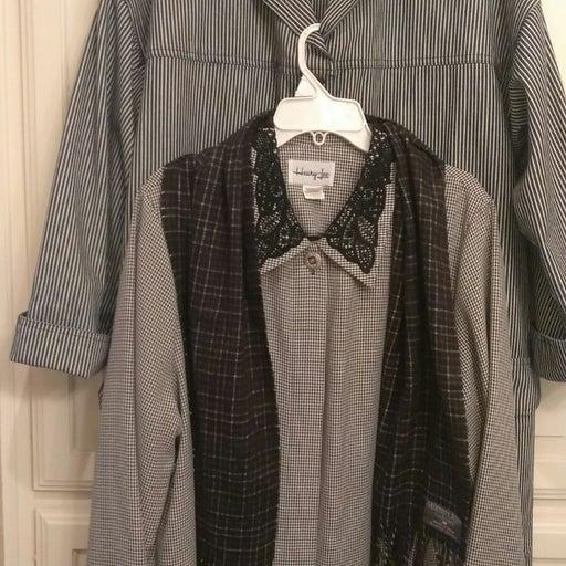 Heavy Duster Style Coat Dress Scarf