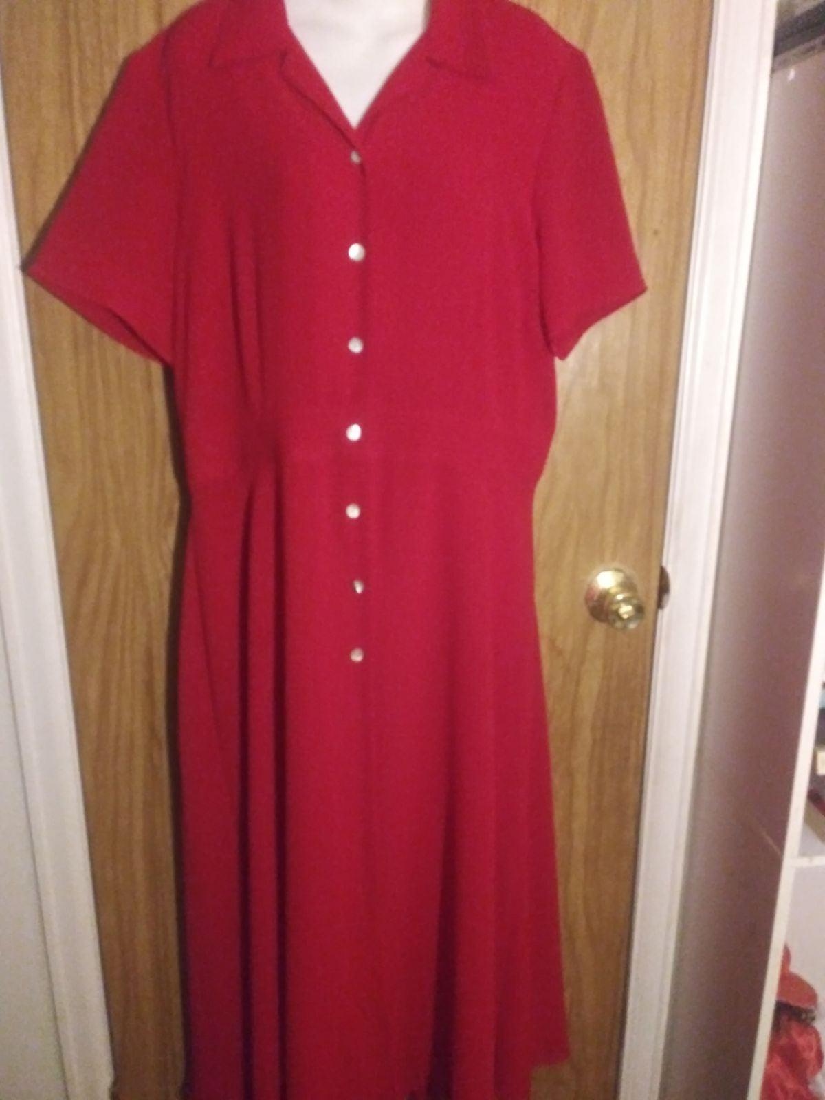 Studio I Size 16 Red Fit N Flare Dress