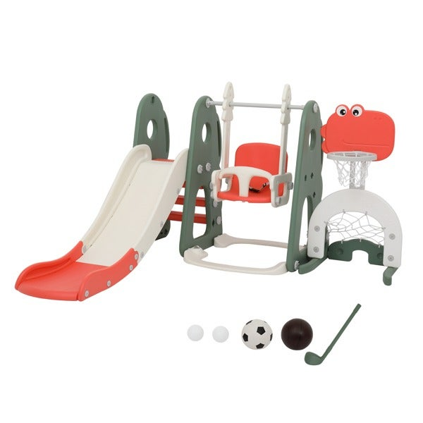 5-in-1 Toddler Slide and Swing Set, Kids