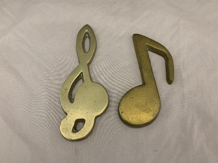 """Brass Treble and Bass Clefs - 5"""""""