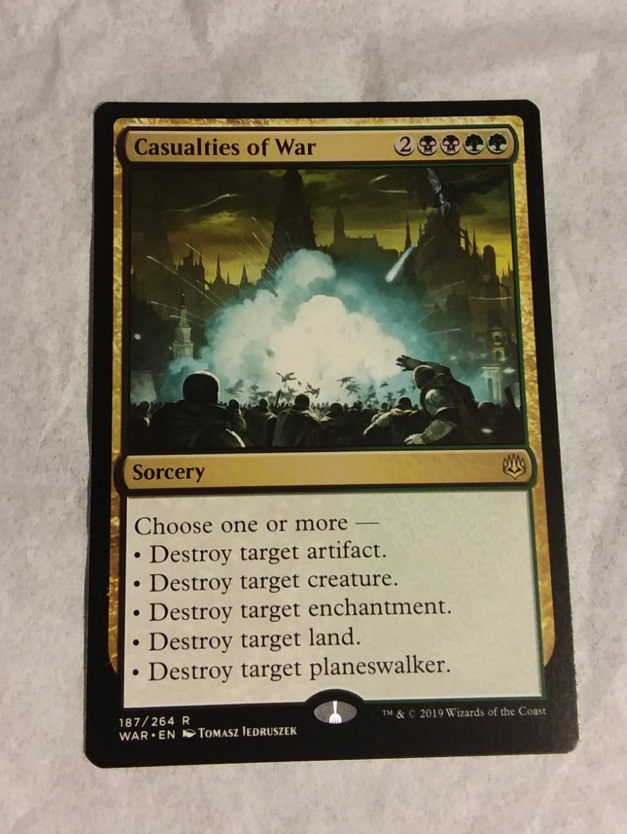 Casualties of War War of the Spark MTG