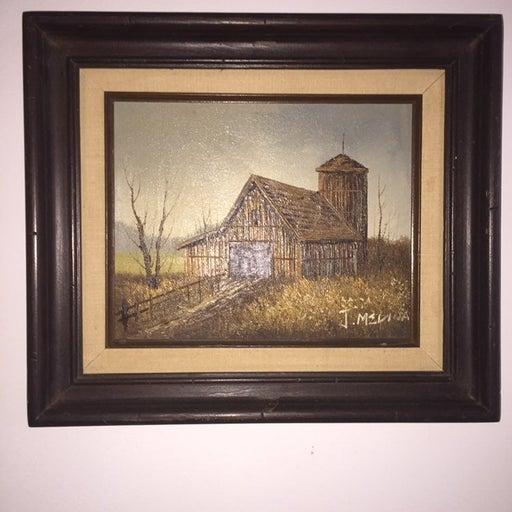 Original J. Medina signed oil painting