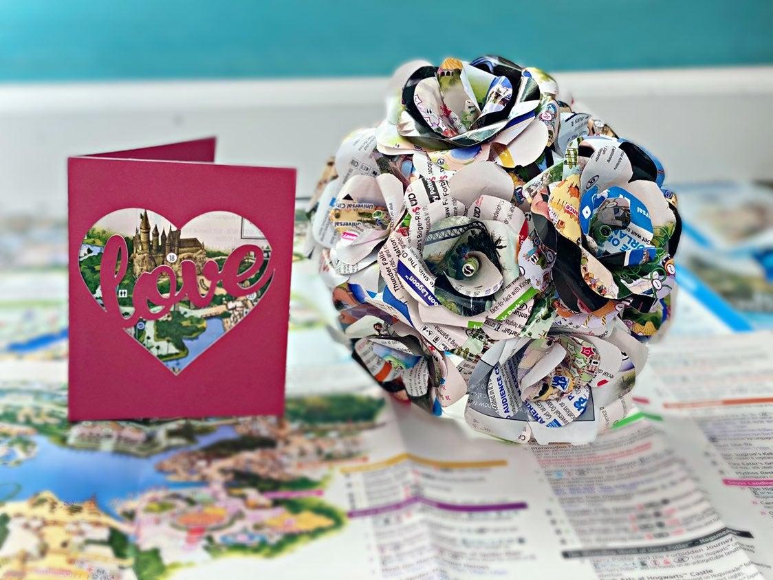 1/2 DZ Universal FL Park Map Flowers