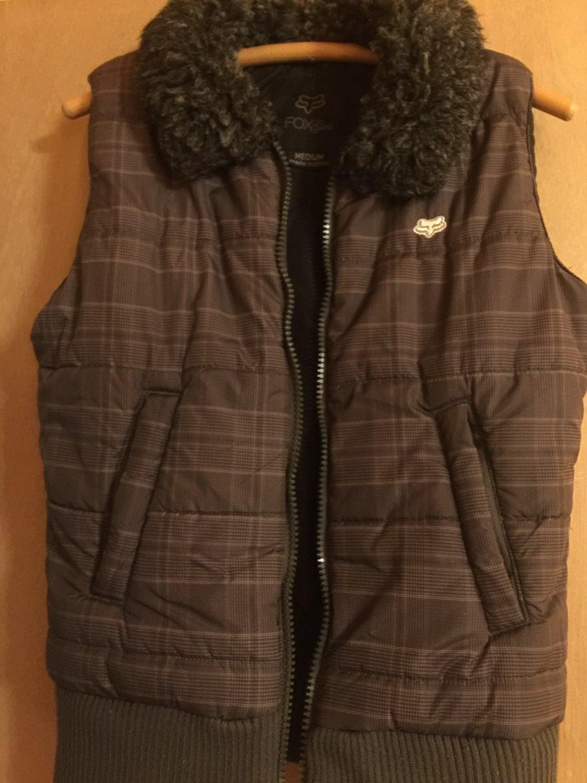 Fox quilted vest - plaid size medium