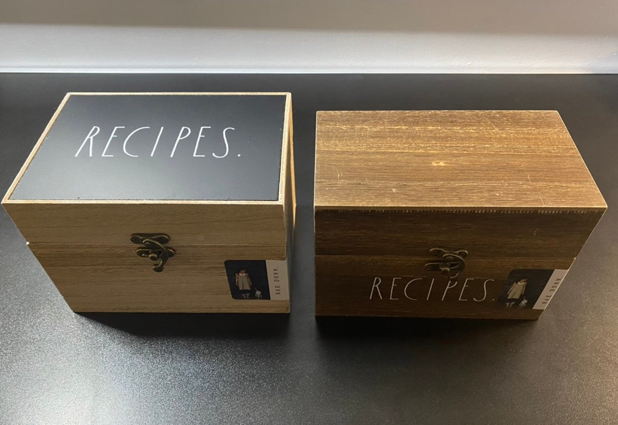 Rae Dunn Recipes Box Set of 2