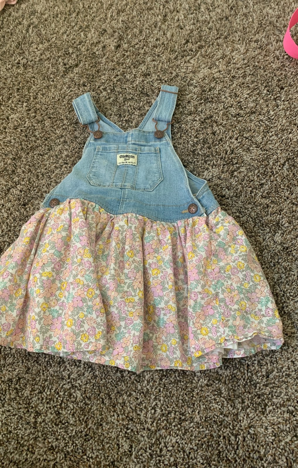 oshkosh overall dress toddler girl 3t