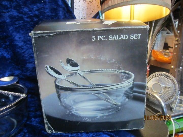 Vintage Godinger 3pc Salad Bowl Set
