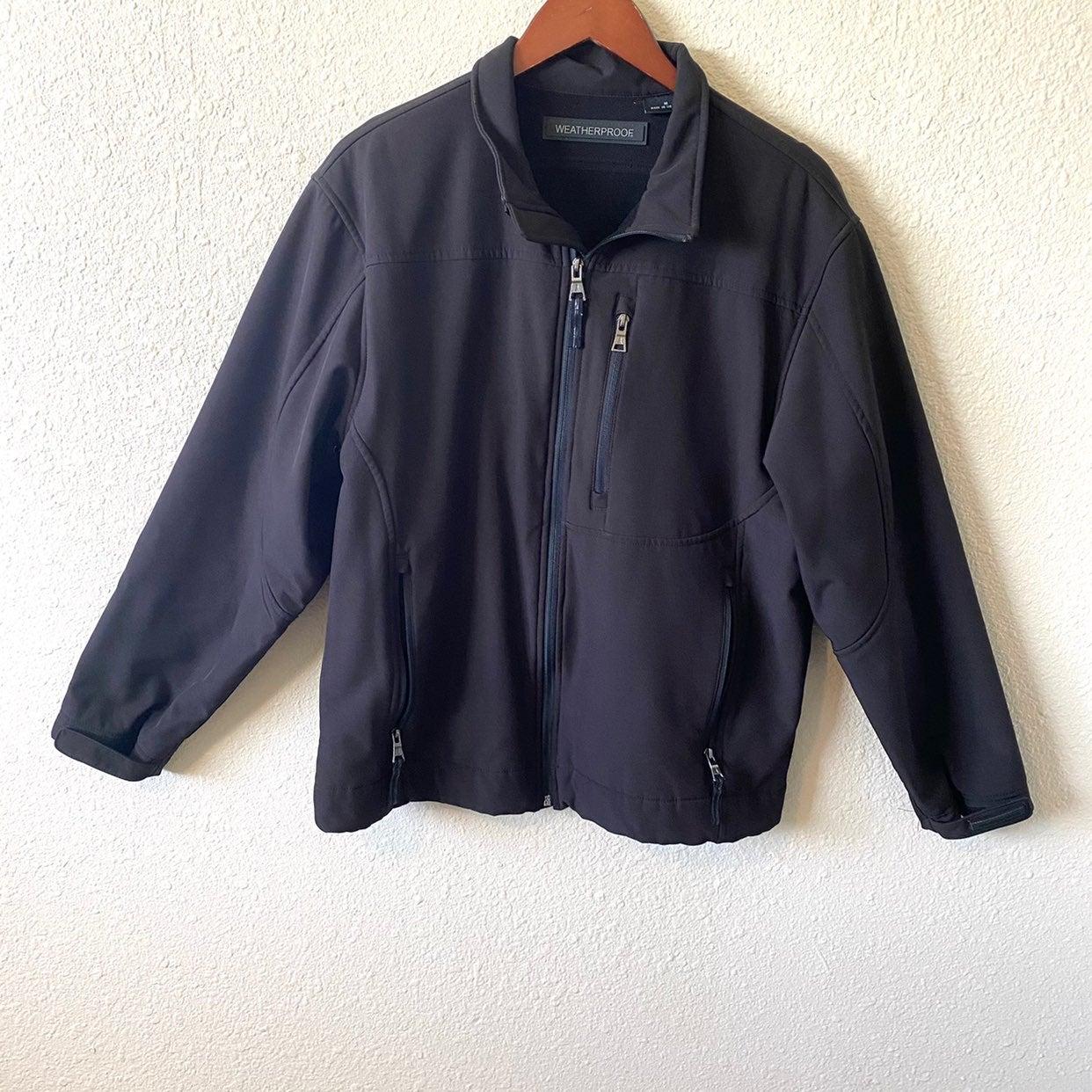 Men's soft shell weatherproof fleece jac