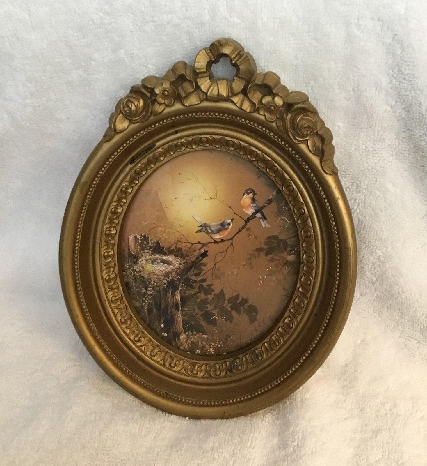 Vintage Homco framed picture