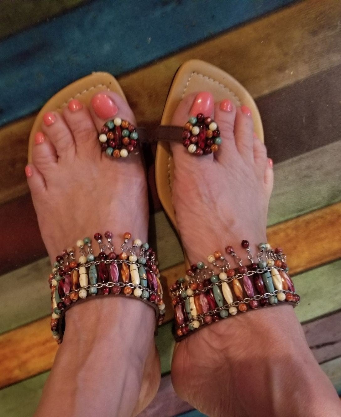 ANN MARINO Bohemian vintage sandal