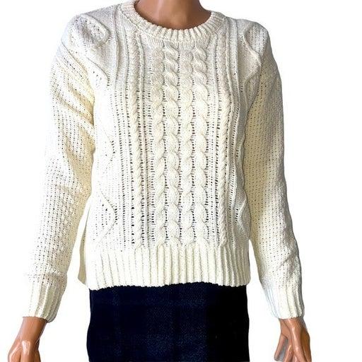 SO Junior Cable Knit Sweater in cream