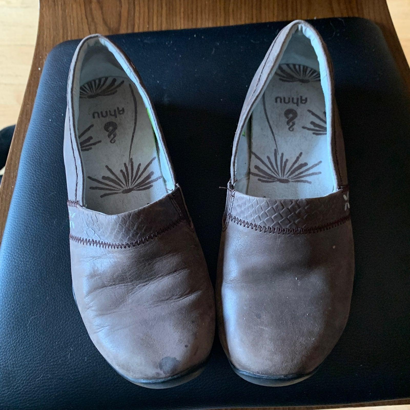 Ahnu Leather Slip On Comfort Shoes