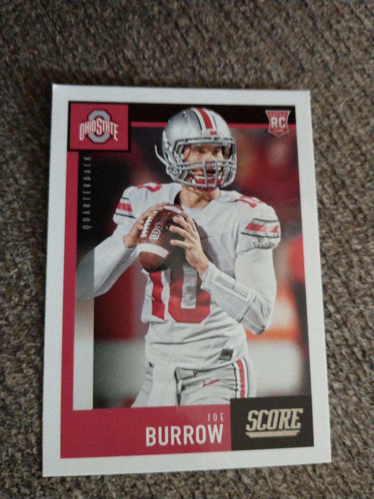2020 Score Joe Burrow Rookie Card #438