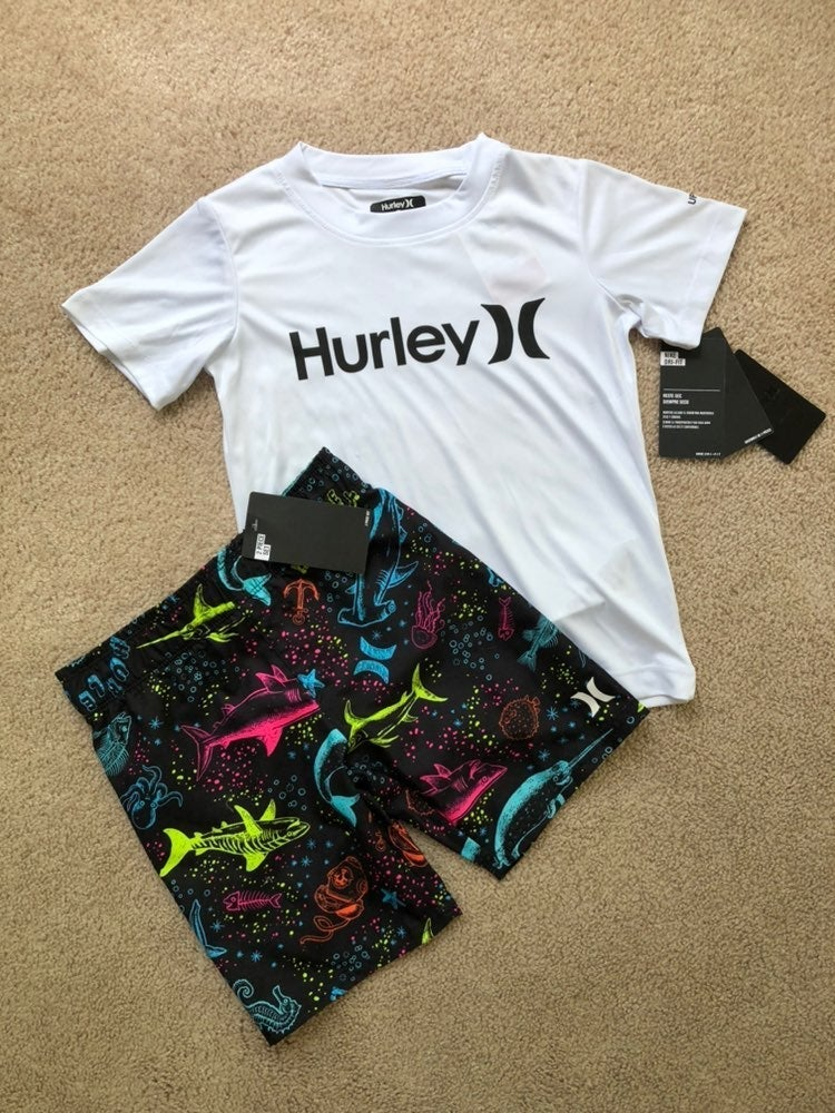 5/5T hurley board shorts with tee nwt
